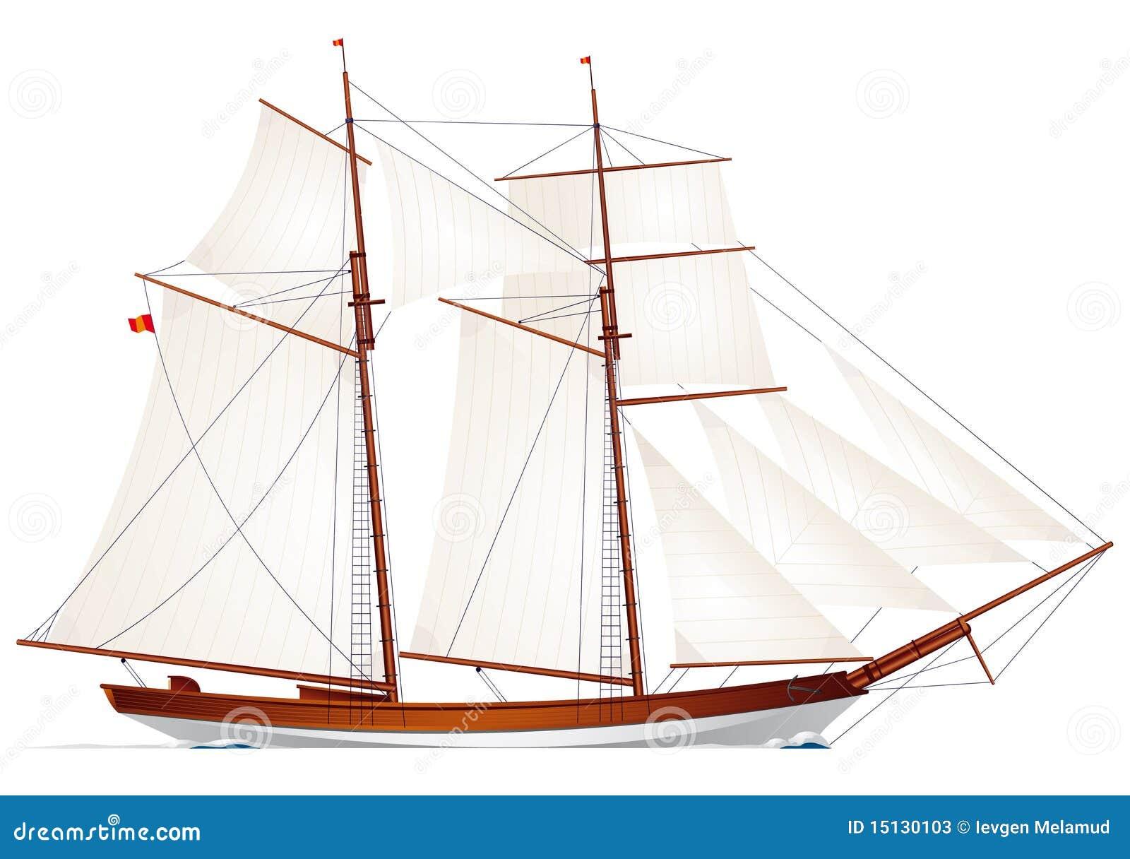 SchoenerZeilbootVarend SchoenerZeilbootVarend Schip SchoenerZeilbootVarend Illustratie Vector Schip Vector Illustratie tQrshd