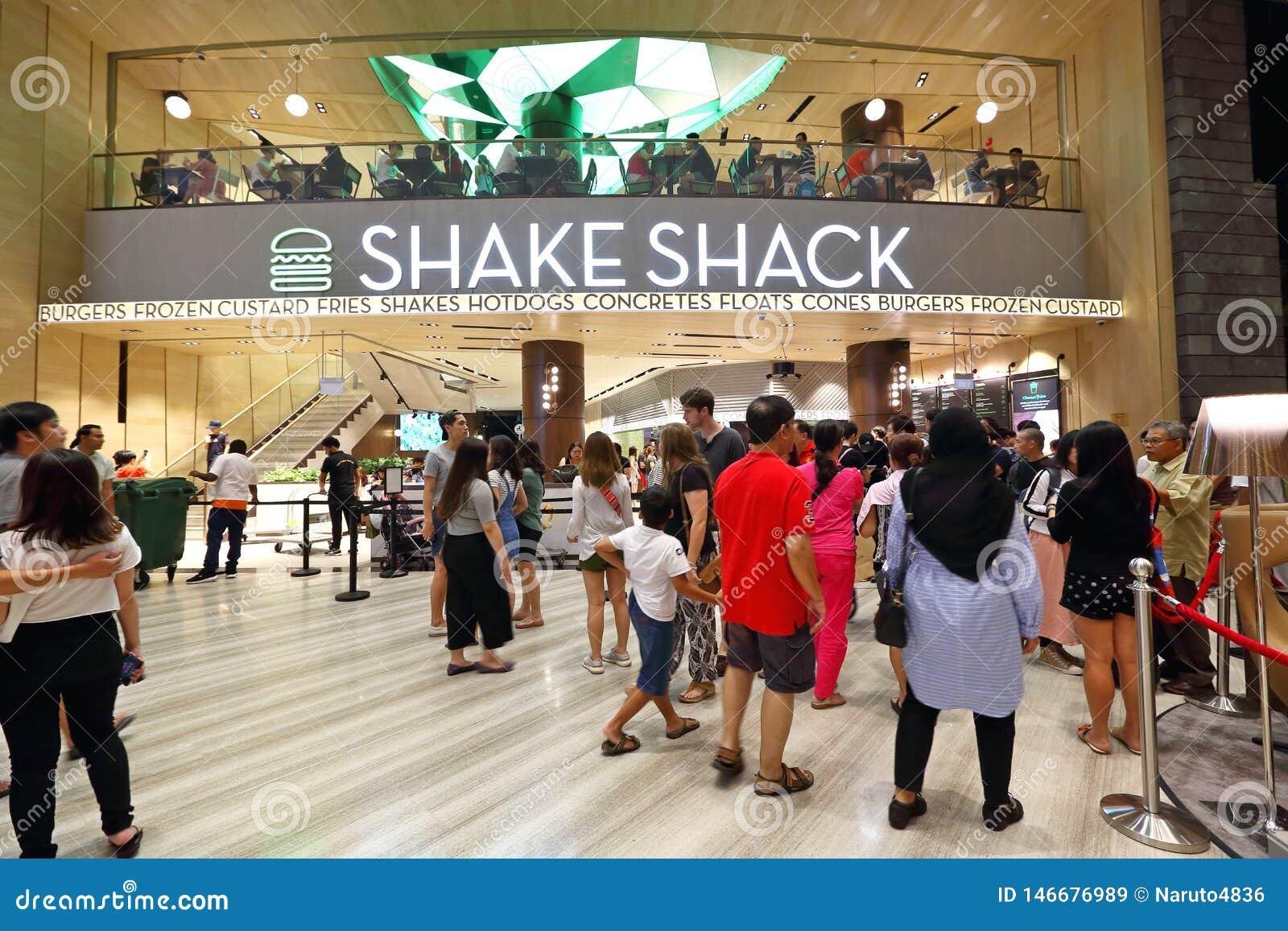 Schokkeet bij het Juweel Changi van Singapore