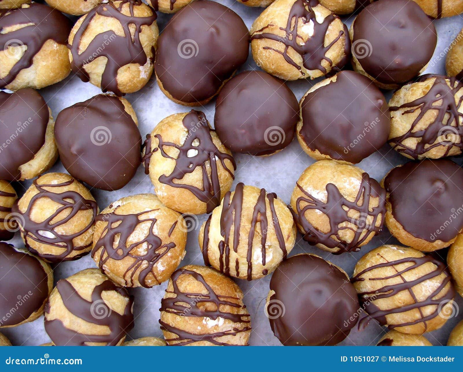 Schokolade tauchte Sahnebeutel ein