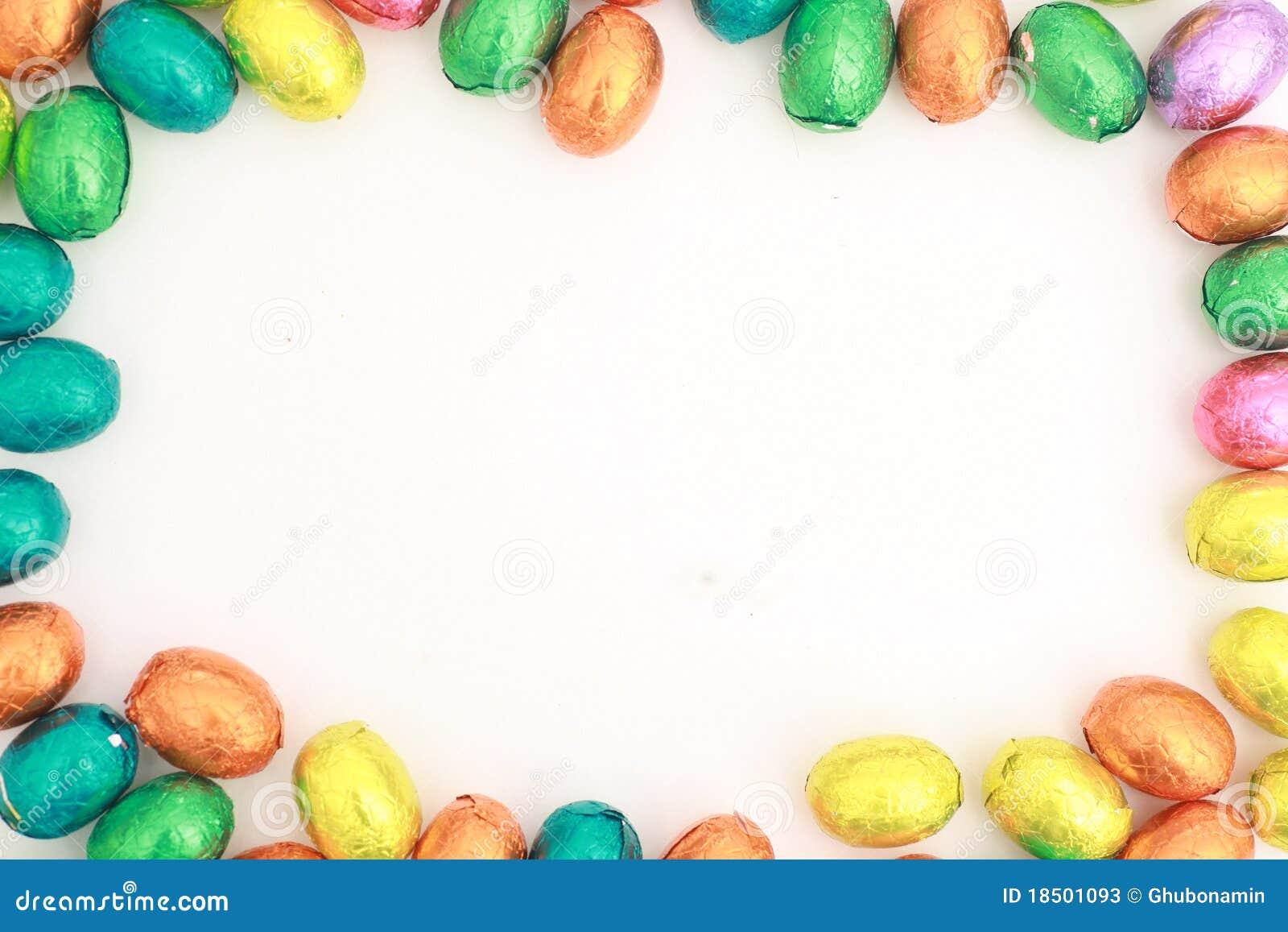 Schokoladen-Eier ein traditioneller Ostern-Bonbon.