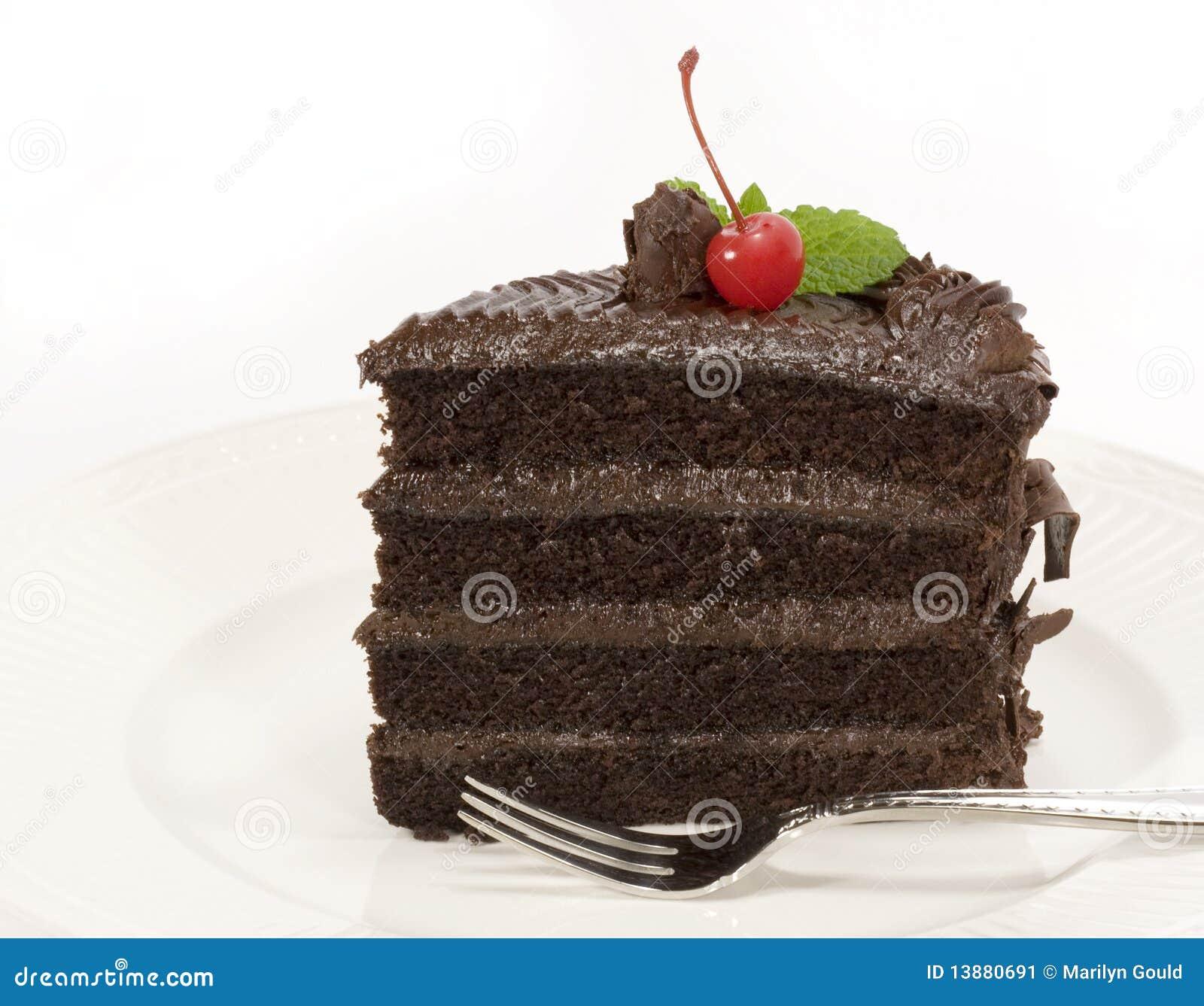 Schokoladen-Schicht-Kuchen - Scheibe