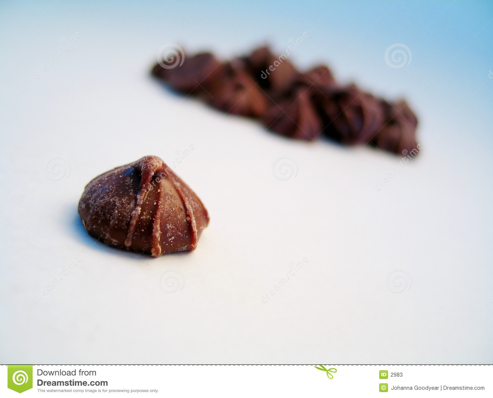 Schokoladenknospe, getrennt