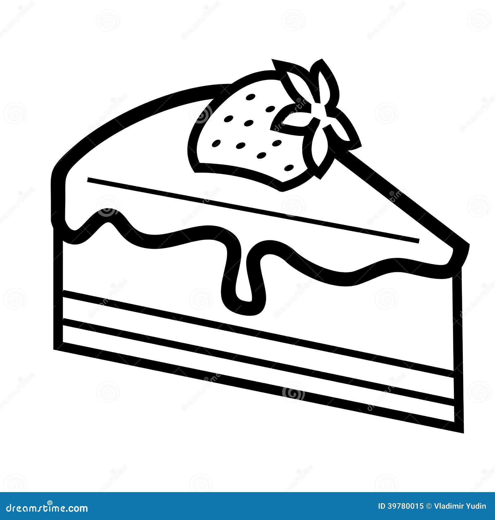 Schokoladenkuchen vektor abbildung. Illustration von torte - 39780015