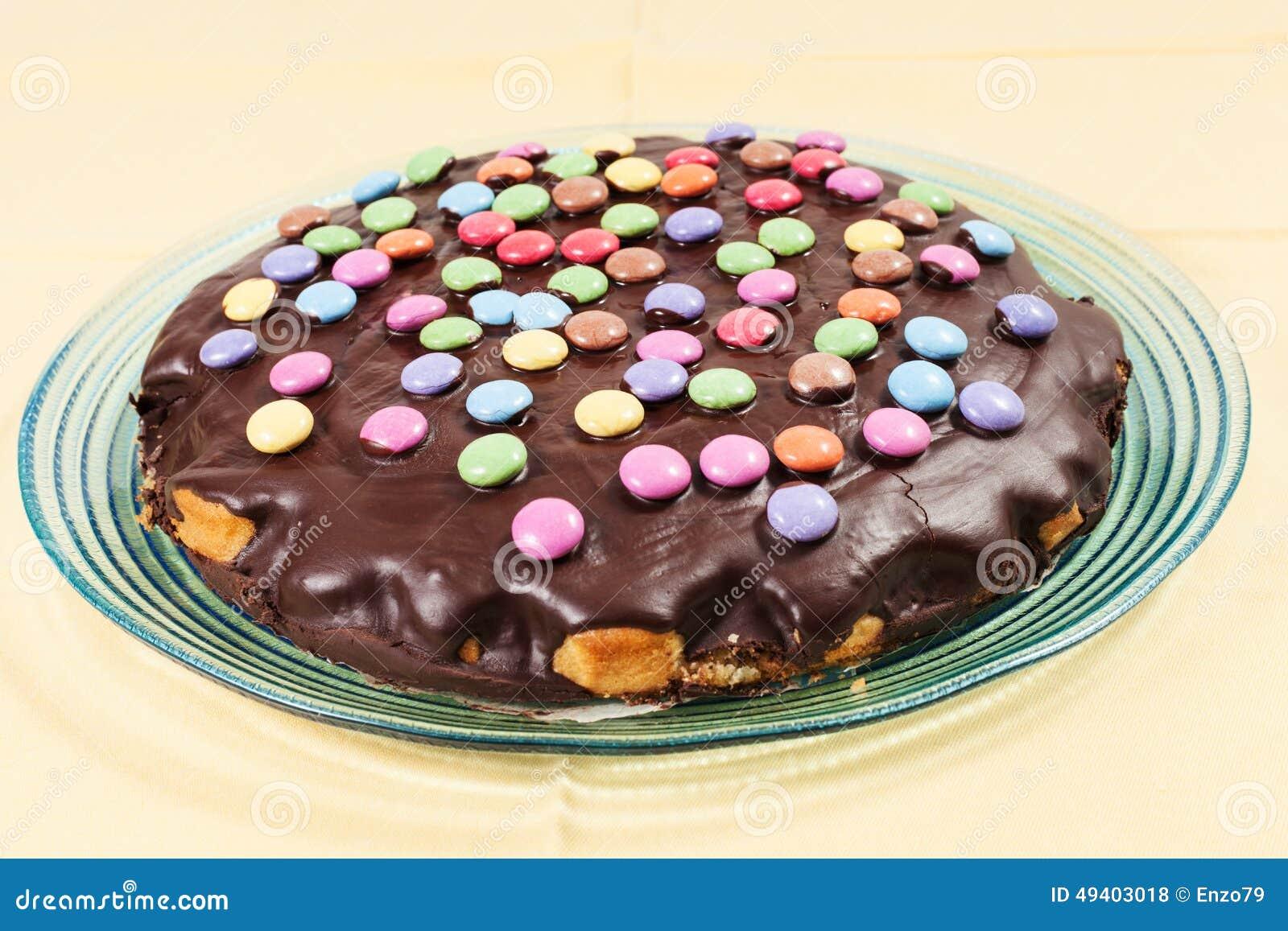 Download Schokoladenkuchen Mit Alleswissern Stockfoto - Bild von vereisung, kalorien: 49403018