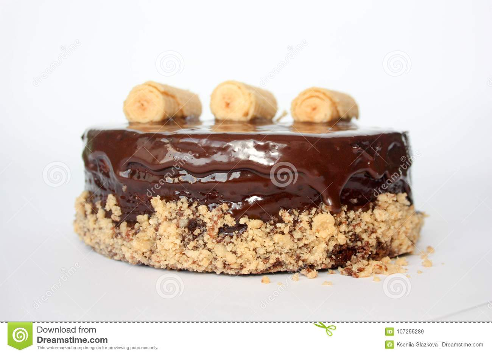 Schokoladenkuchen mit an hängen