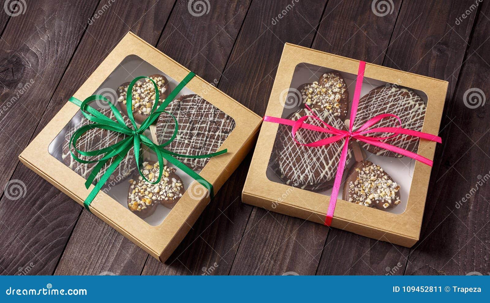 Schokoladennachtisch, Kuchen in einem Kasten