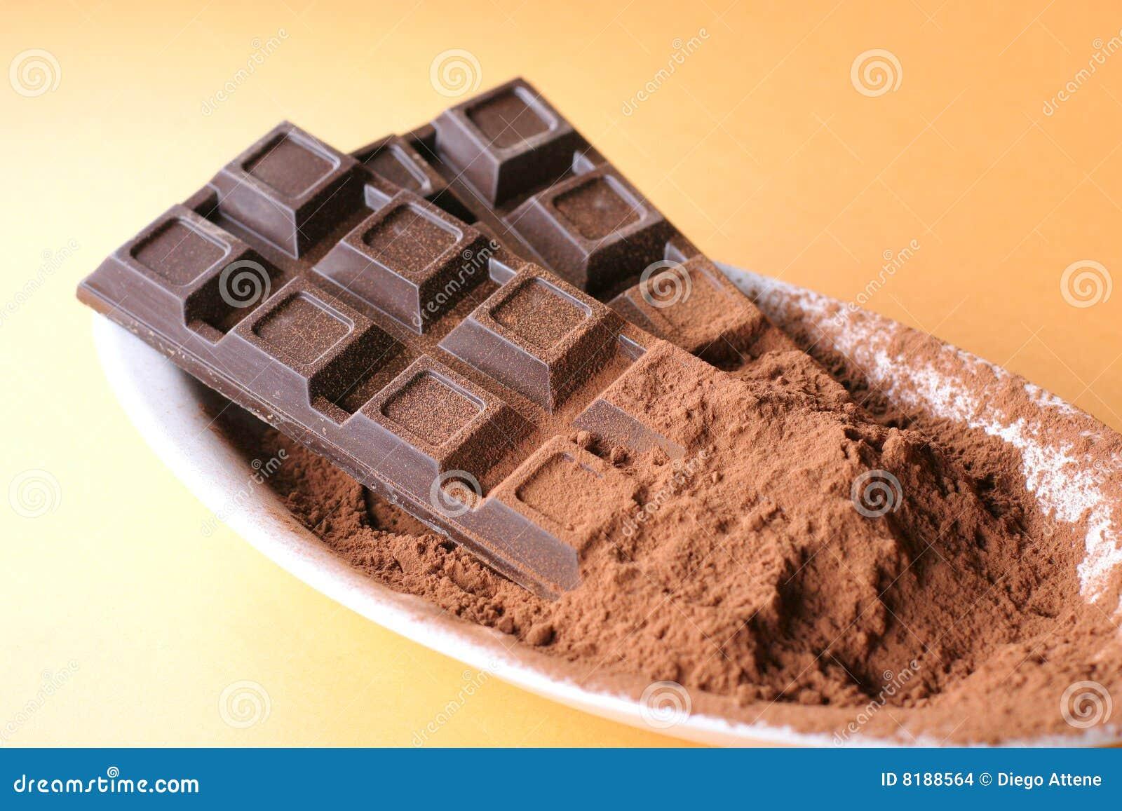 Schokoriegel mit Kakao
