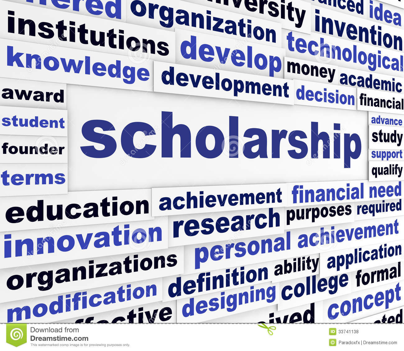 Scholarship Conceptual Message Design Stock Illustration ...