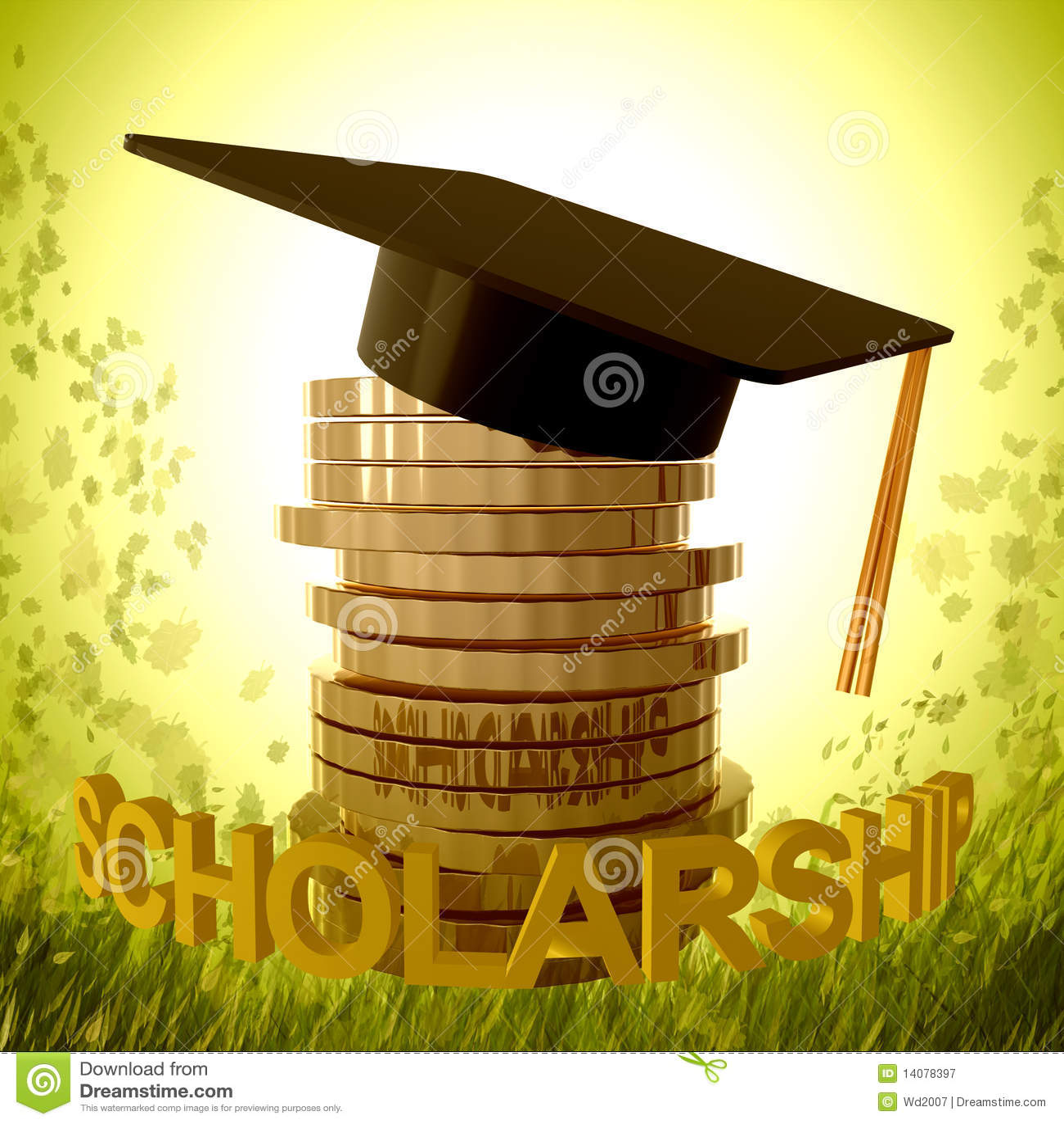 scholarship fund and graduation symbol royalty free stock
