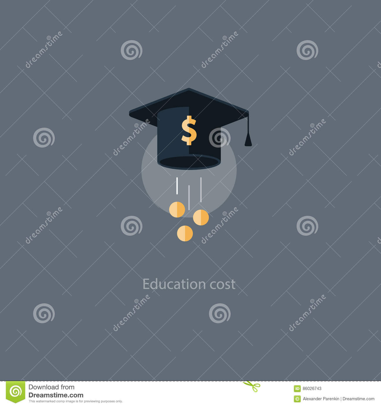 Scholarship Grant Money, Education Fee Icon, Payment Cost ...