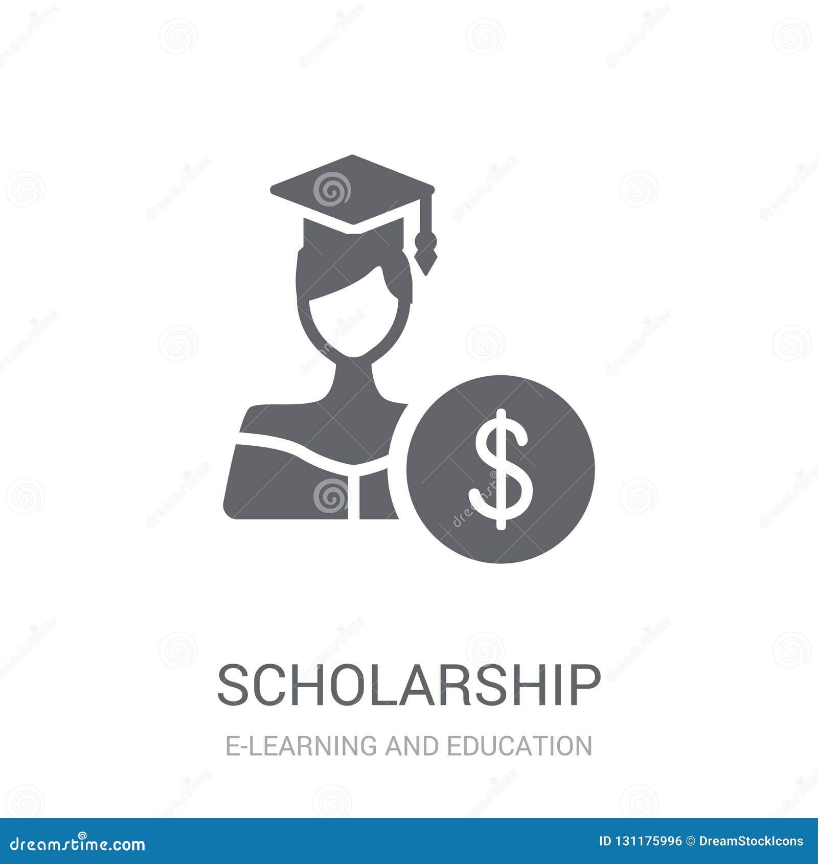 Scholarship Icon. Trendy Scholarship Logo Concept On White ...