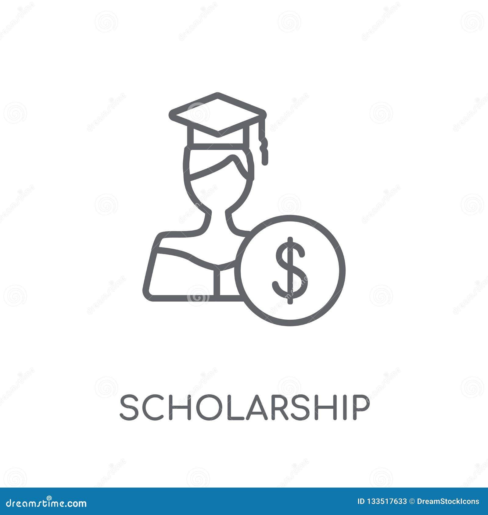 Scholarship Linear Icon. Modern Outline Scholarship Logo ...