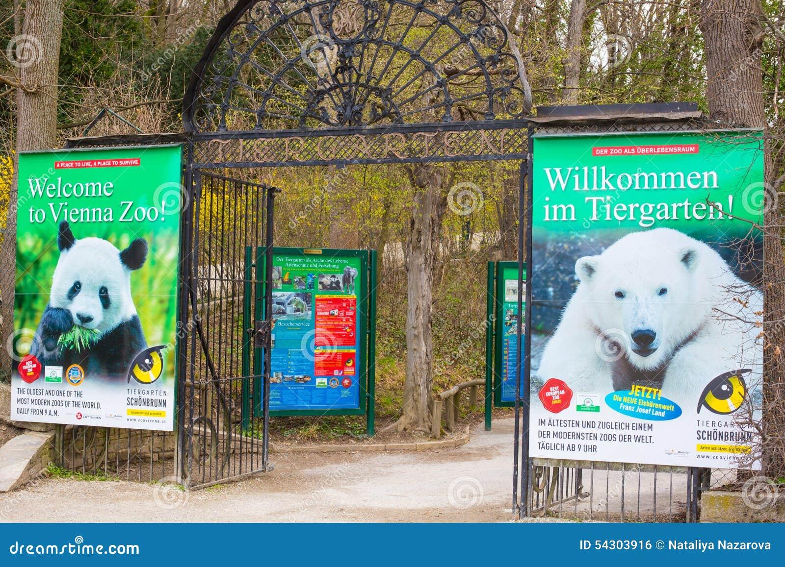 Schonbrunn Zoo Entrance Gate Editorial Photo Image Of Entrance