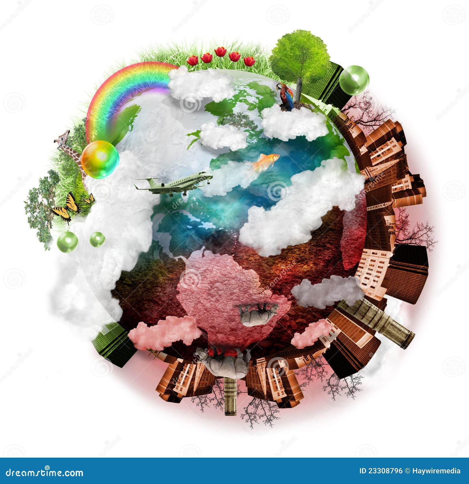 Schone Lucht en de Verontreinigde Mengeling van de Aarde