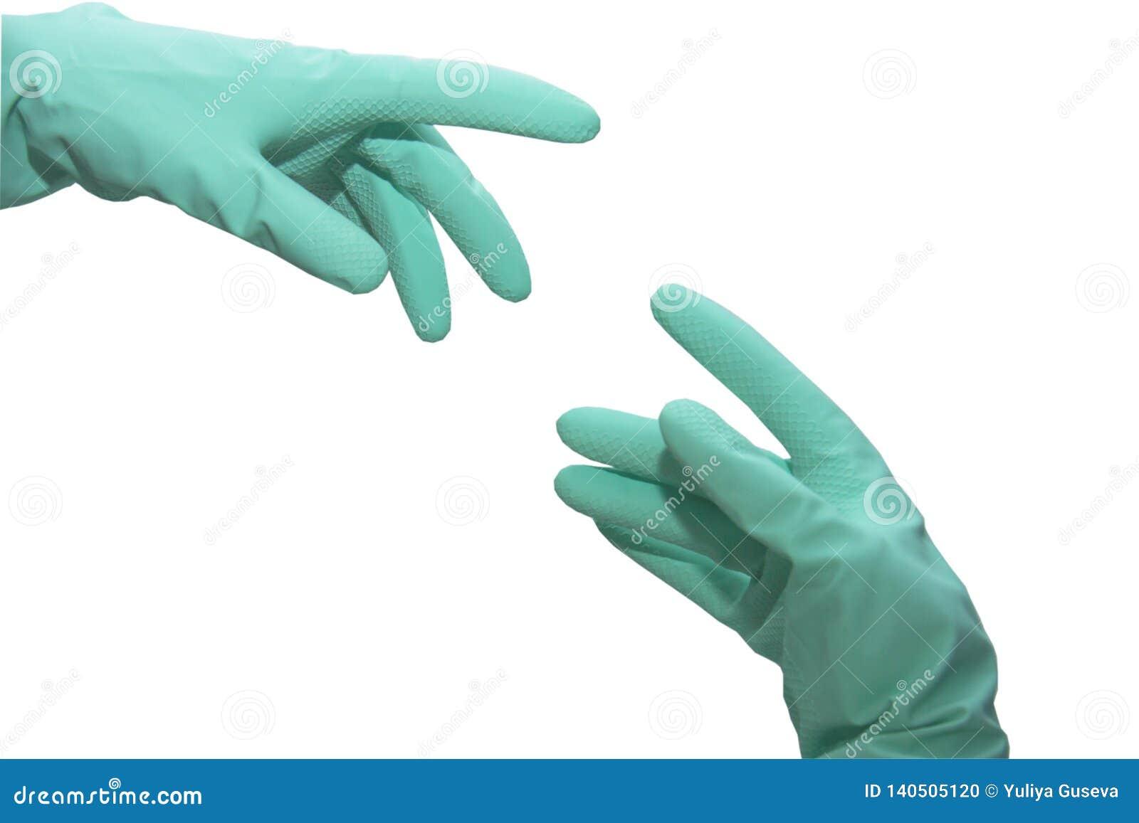 Schone schoonmakende handschoenen
