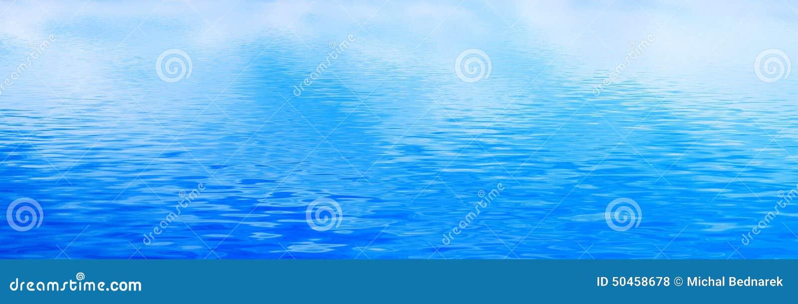 Schone waterachtergrond, kalme golven Banner, panorama
