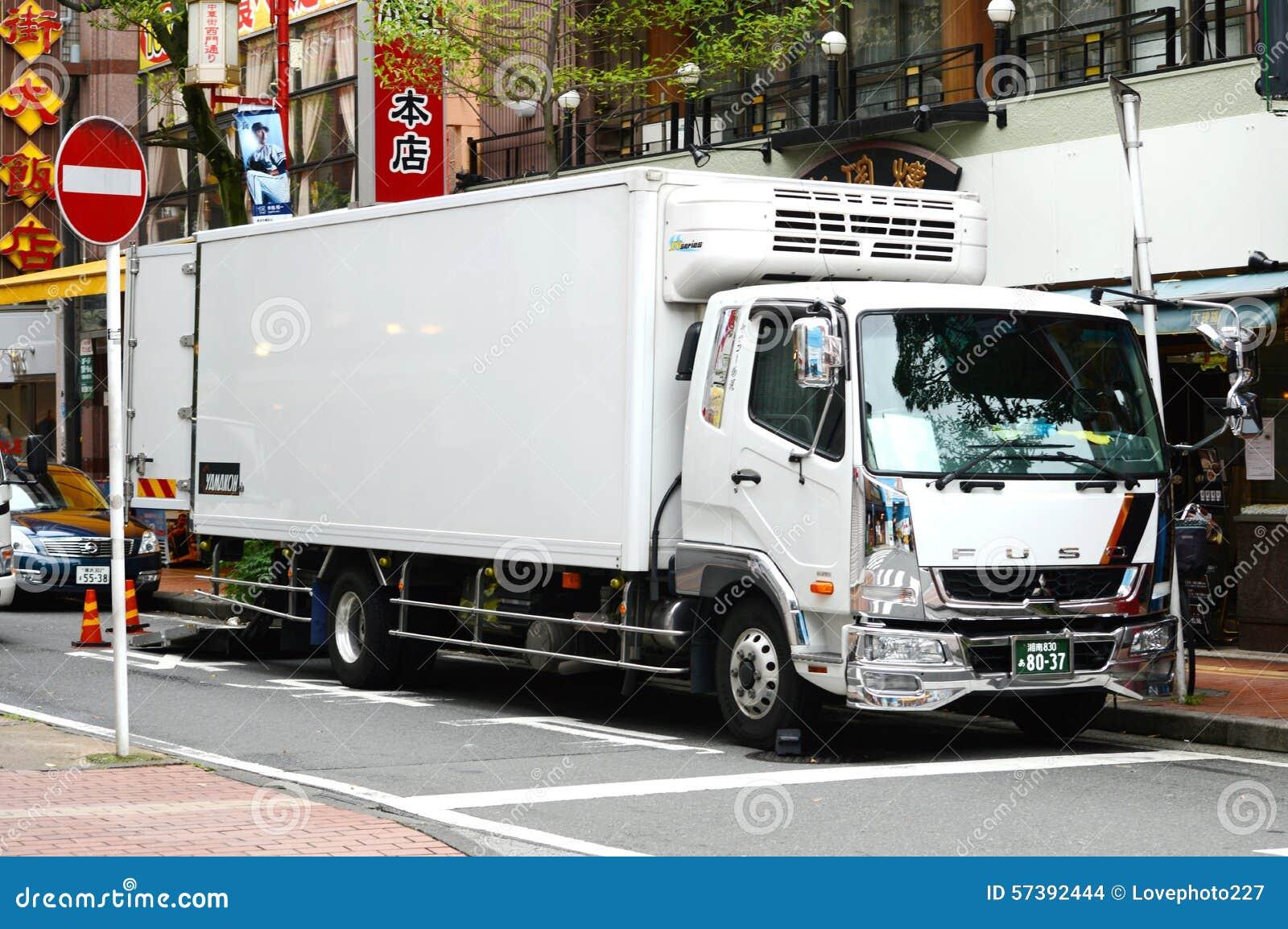 Schone witte vrachtwagen