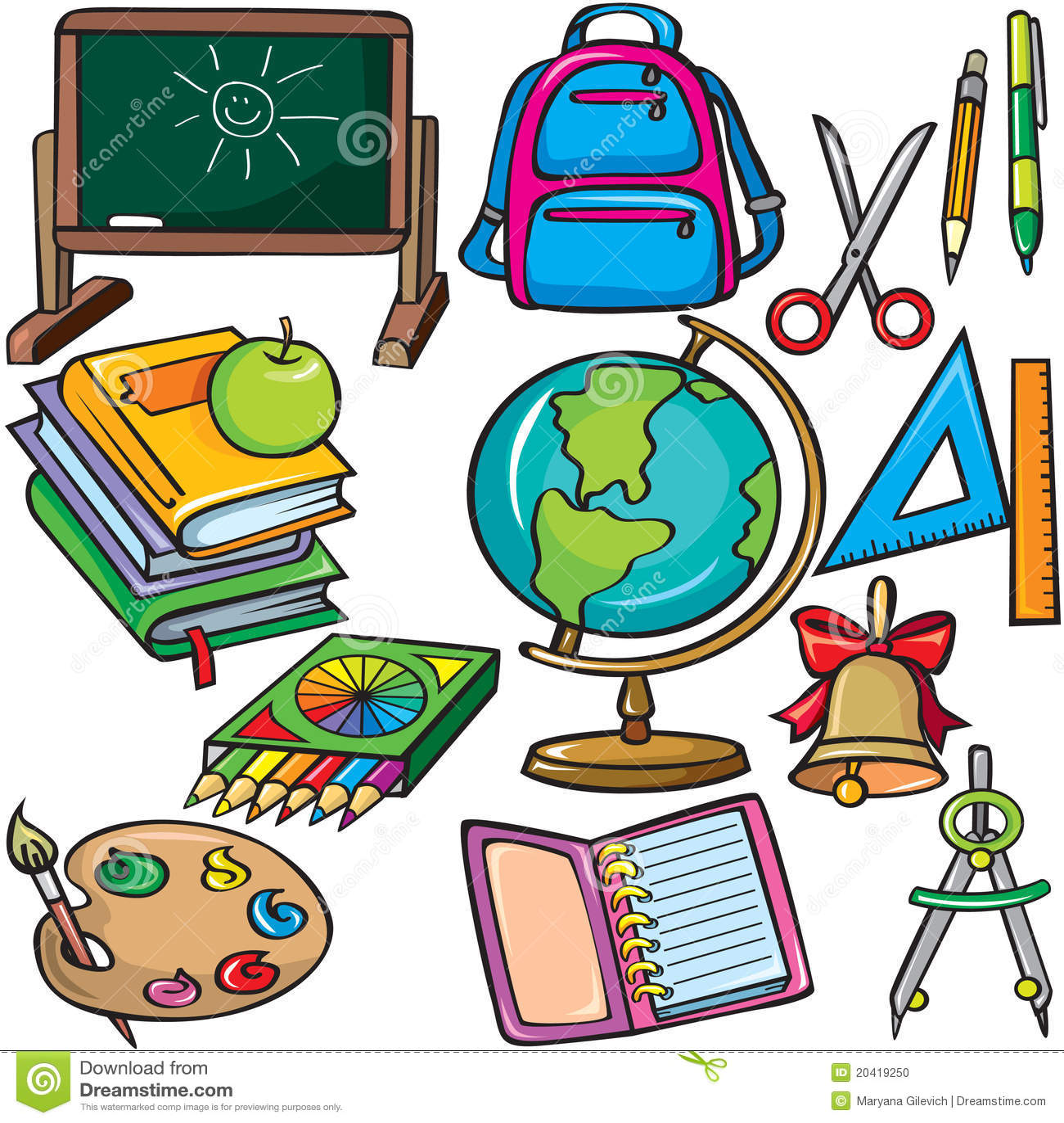 Маленькие рисунки на школьную тематику
