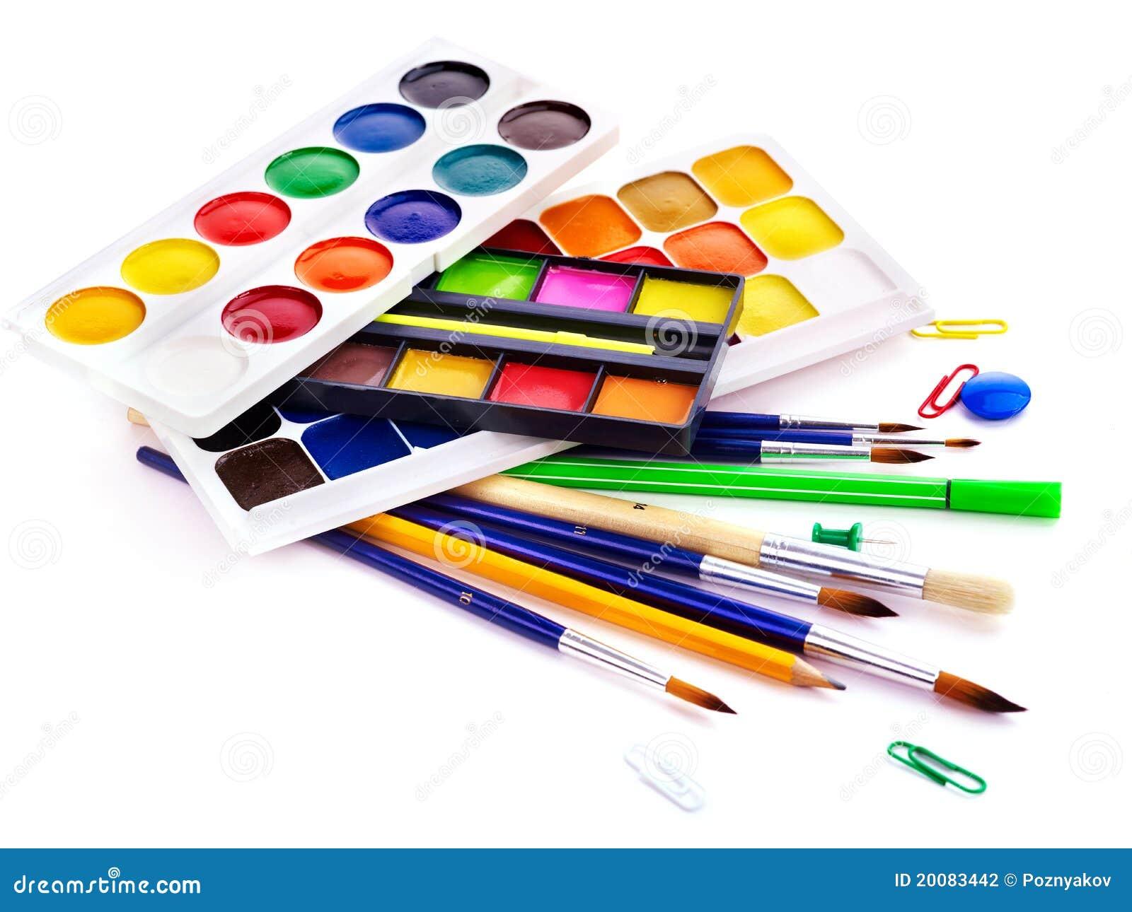 School Art Supplies Stock Photography - Image: 20083442