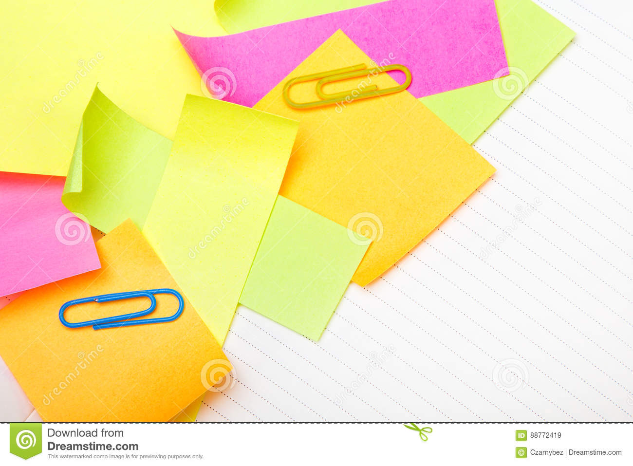 School Background With Colorful Sticky Notes Stock Image Image Of