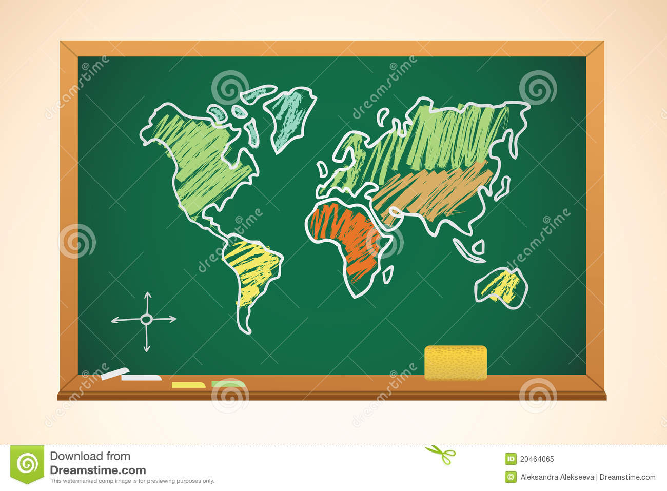 Geography map background