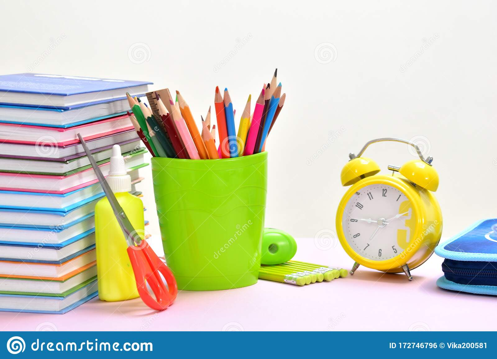 Education Background Stationery Training Time School Knowledge Stock Photo Image Of Paint Book 172746796