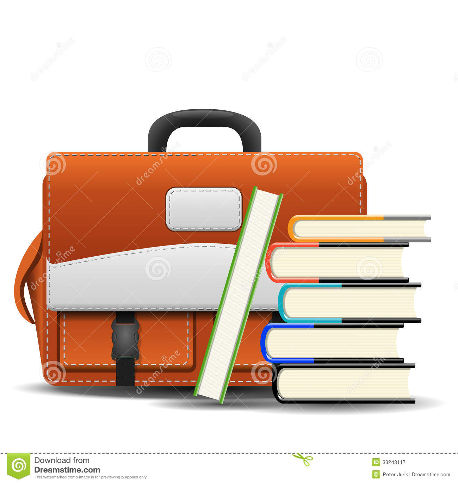 School bag diagram - School Bag With Books