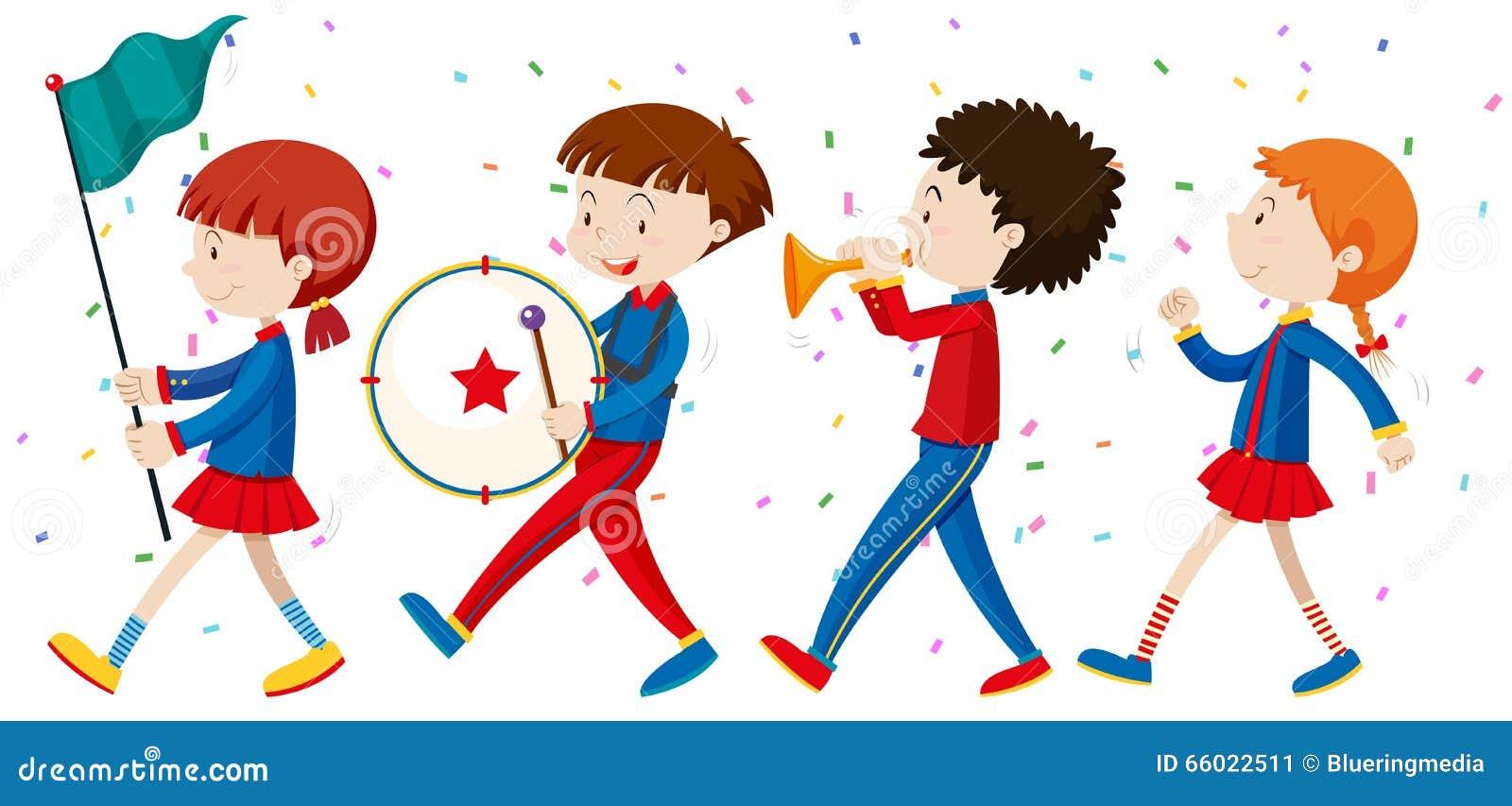 Kids Marching Stock Illustrations – 54 Kids Marching Stock Illustrations,  Vectors & Clipart - Dreamstime