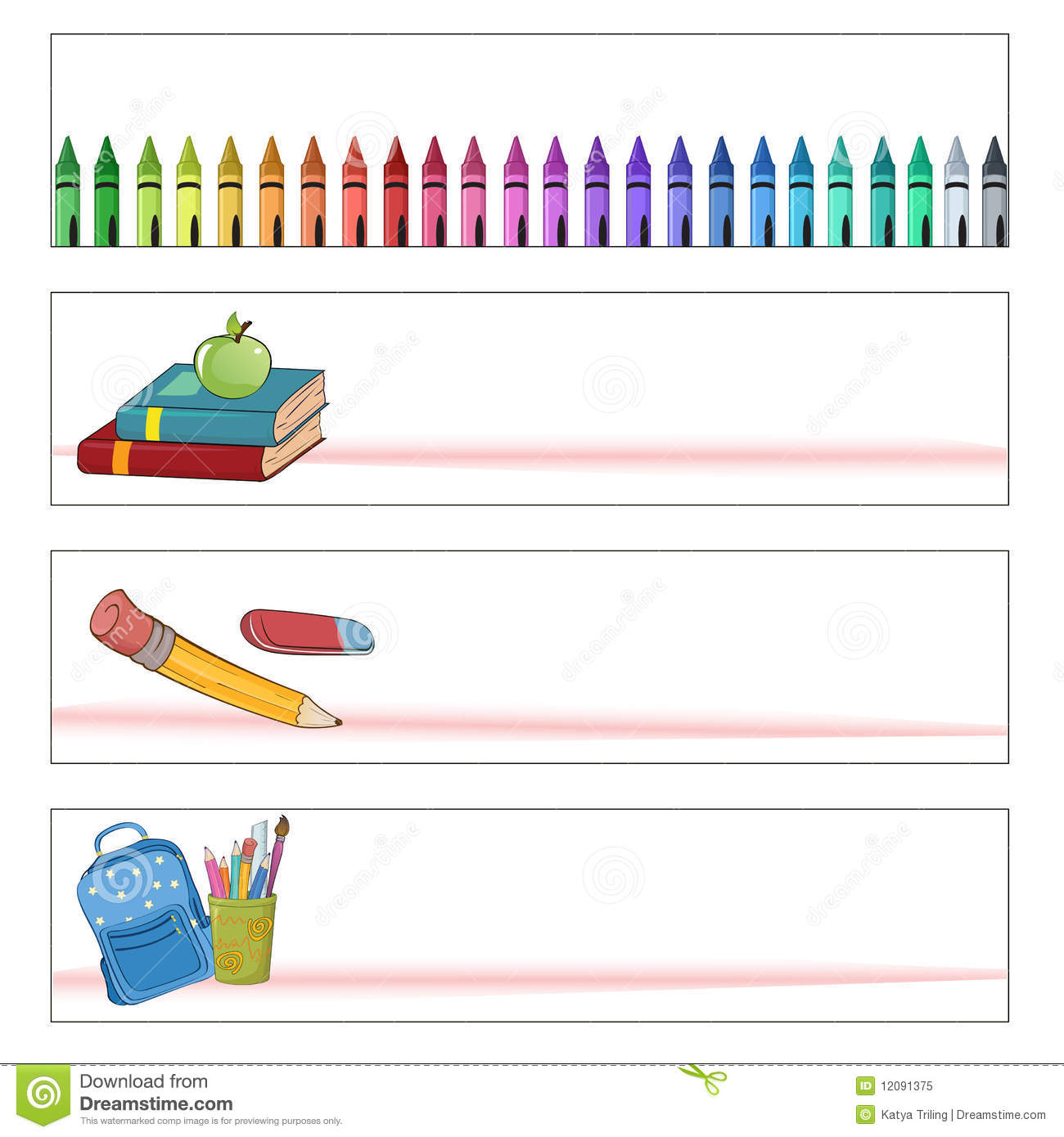 school banners stock vector illustration of color book 12091375