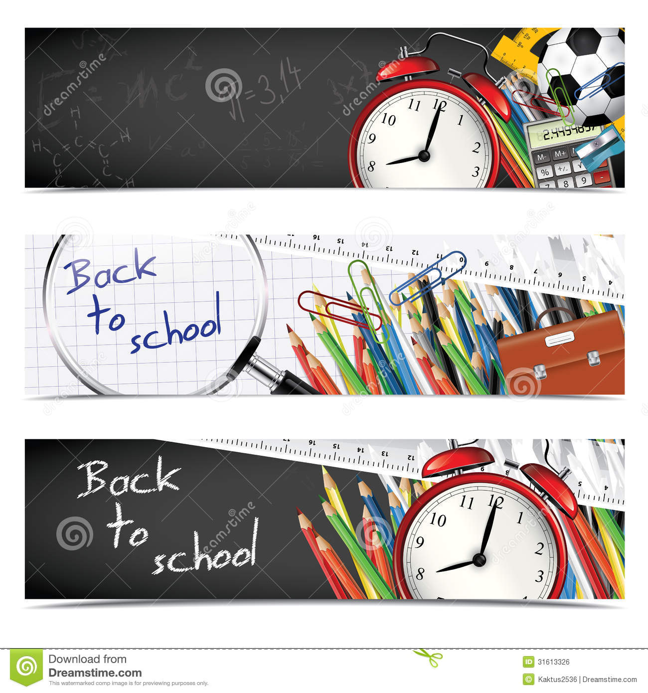school banners stock vector  image of lens  ball  card