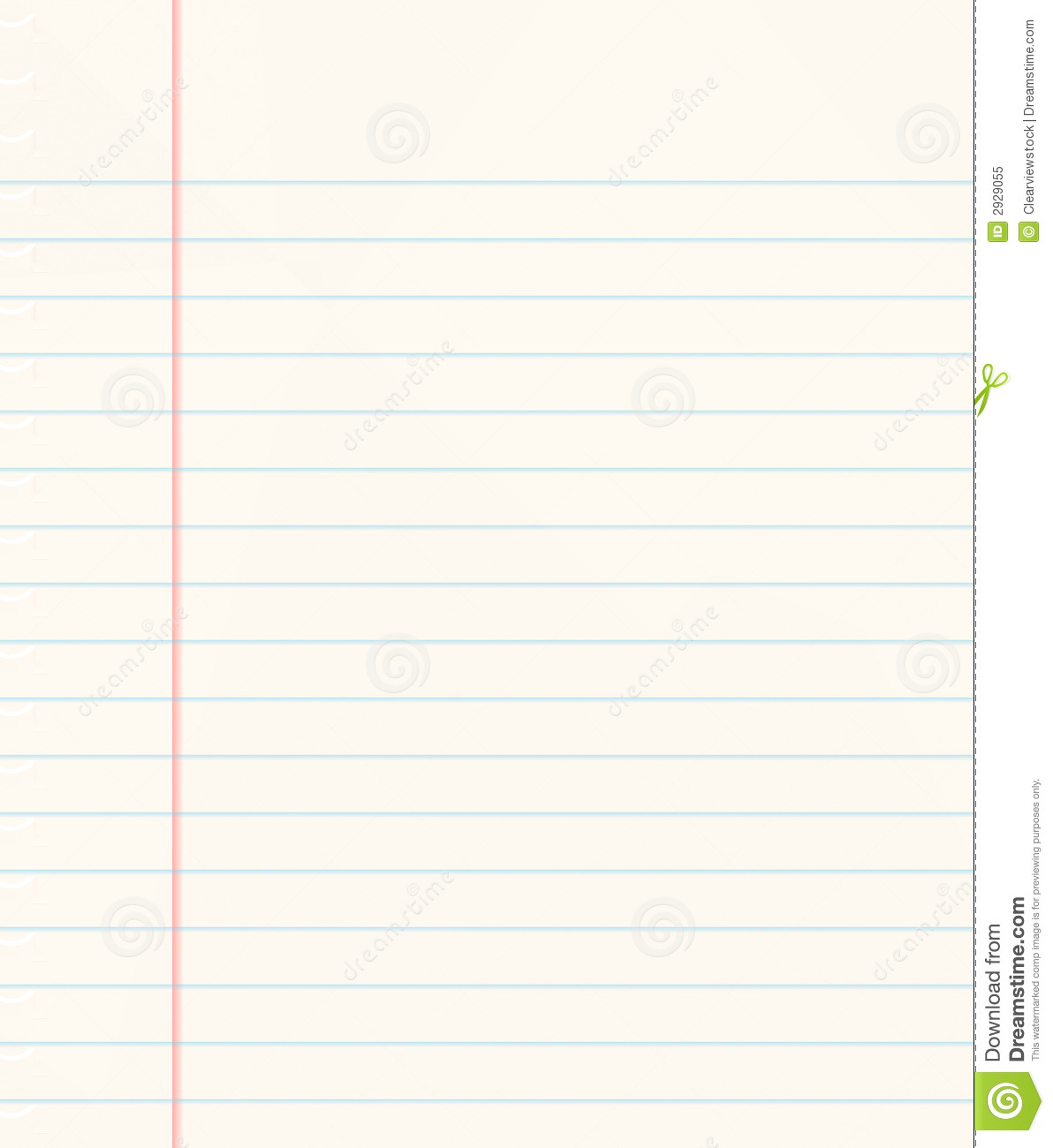 Nice image of a book of ruled or lined paper.