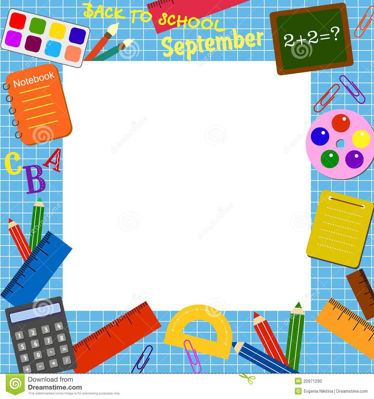school border stock vector  illustration of colour  brush