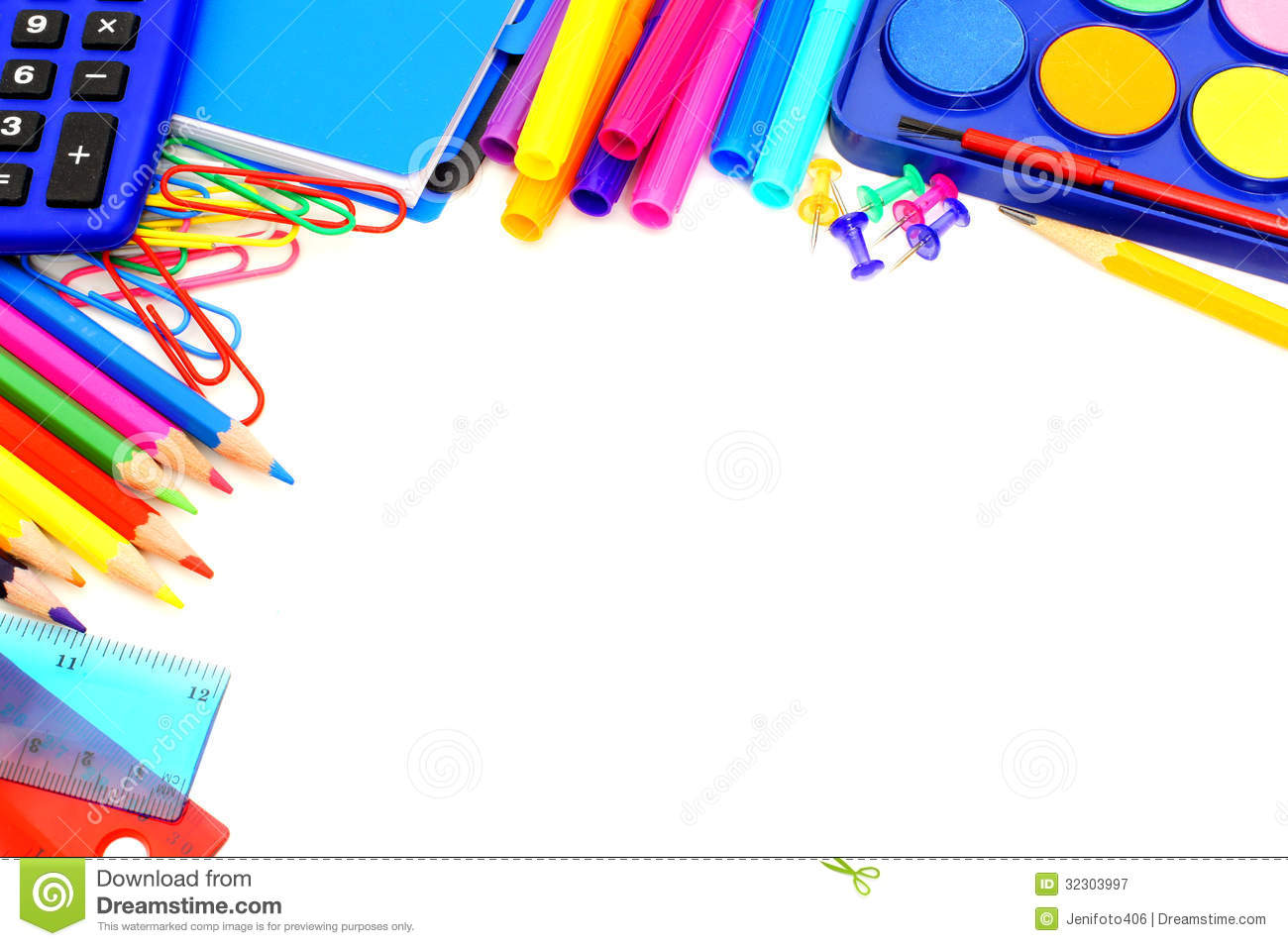 School Border Royalty Free Stock Photography Image 32303997