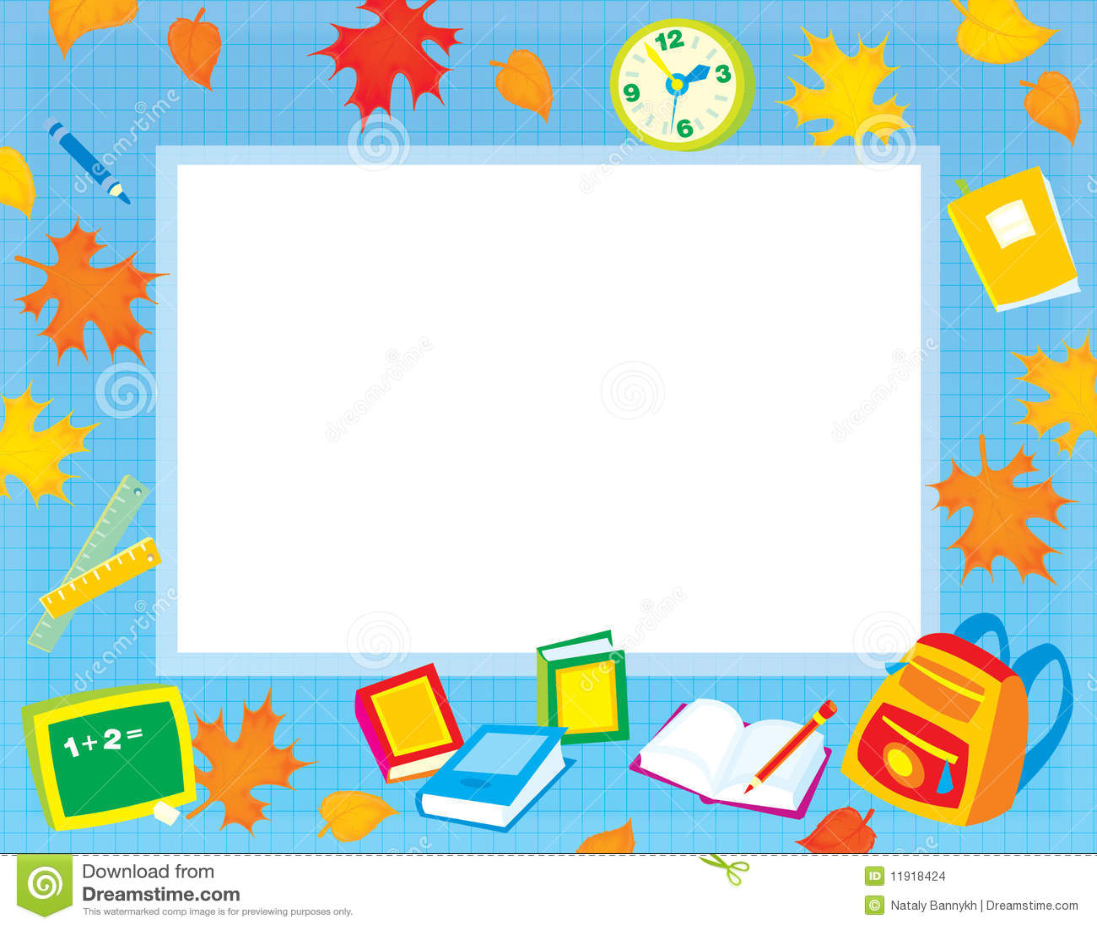 Stock Images School Border Your Photo Text Image11918424 on Preschool Graduation Letter To Children