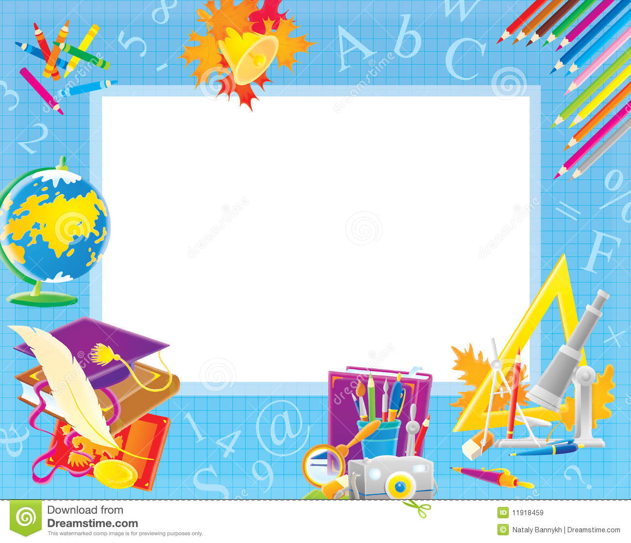 School Border For Your Photo And Text Royalty Free Stock Images ...