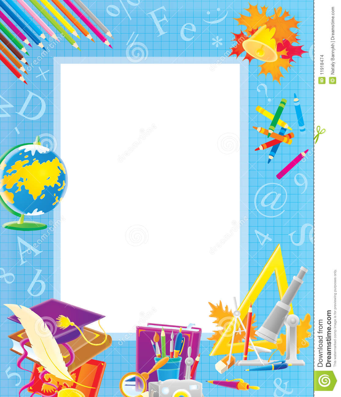 School Border For Your Photo And Text Stock Images Image