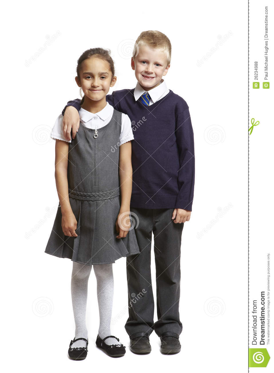 Boy And Girl Bedroom Decor: School Boy And Girl Smiling Royalty Free Stock Photos