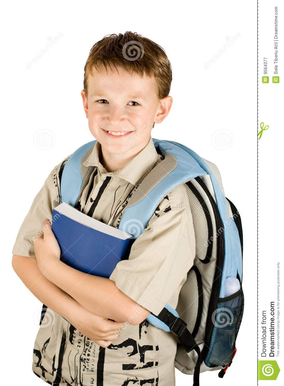 school boy holding a book royalty free stock photography