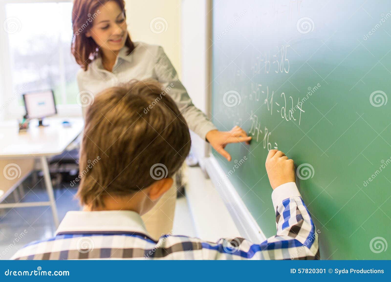 Boy Scholl And Teacher