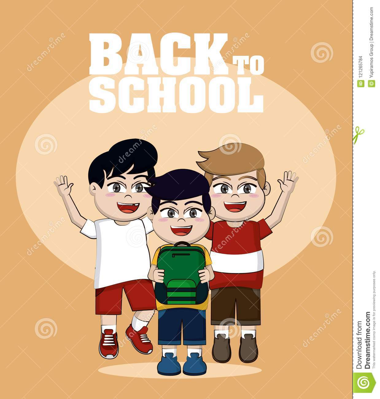 Back To School Stock Vector Illustration Of Friends 121265784