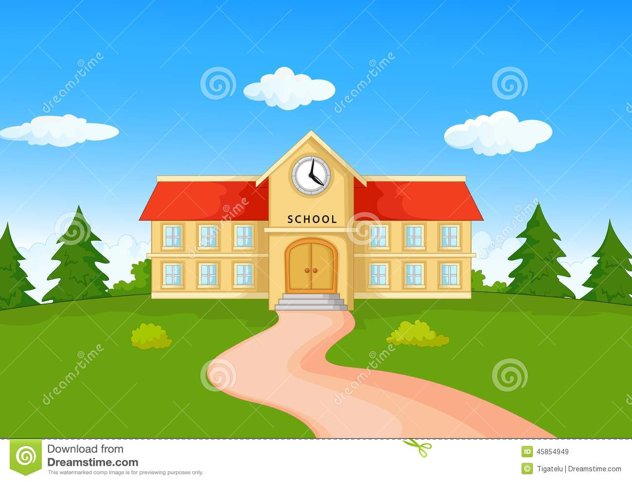 cartoon school building pictures to pin on pinterest Cartoon Bus Station Cartoon Bus Station