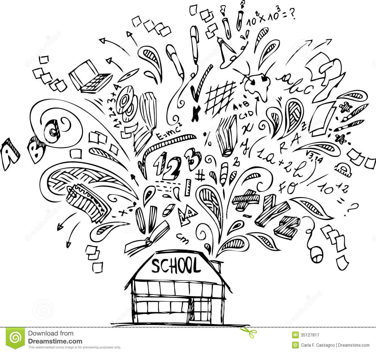 free education clipart black and white - photo #35