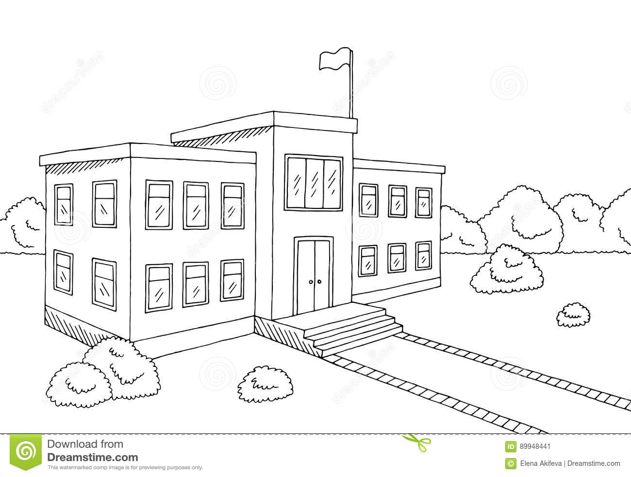 Cartoon Drawing Of White House Building