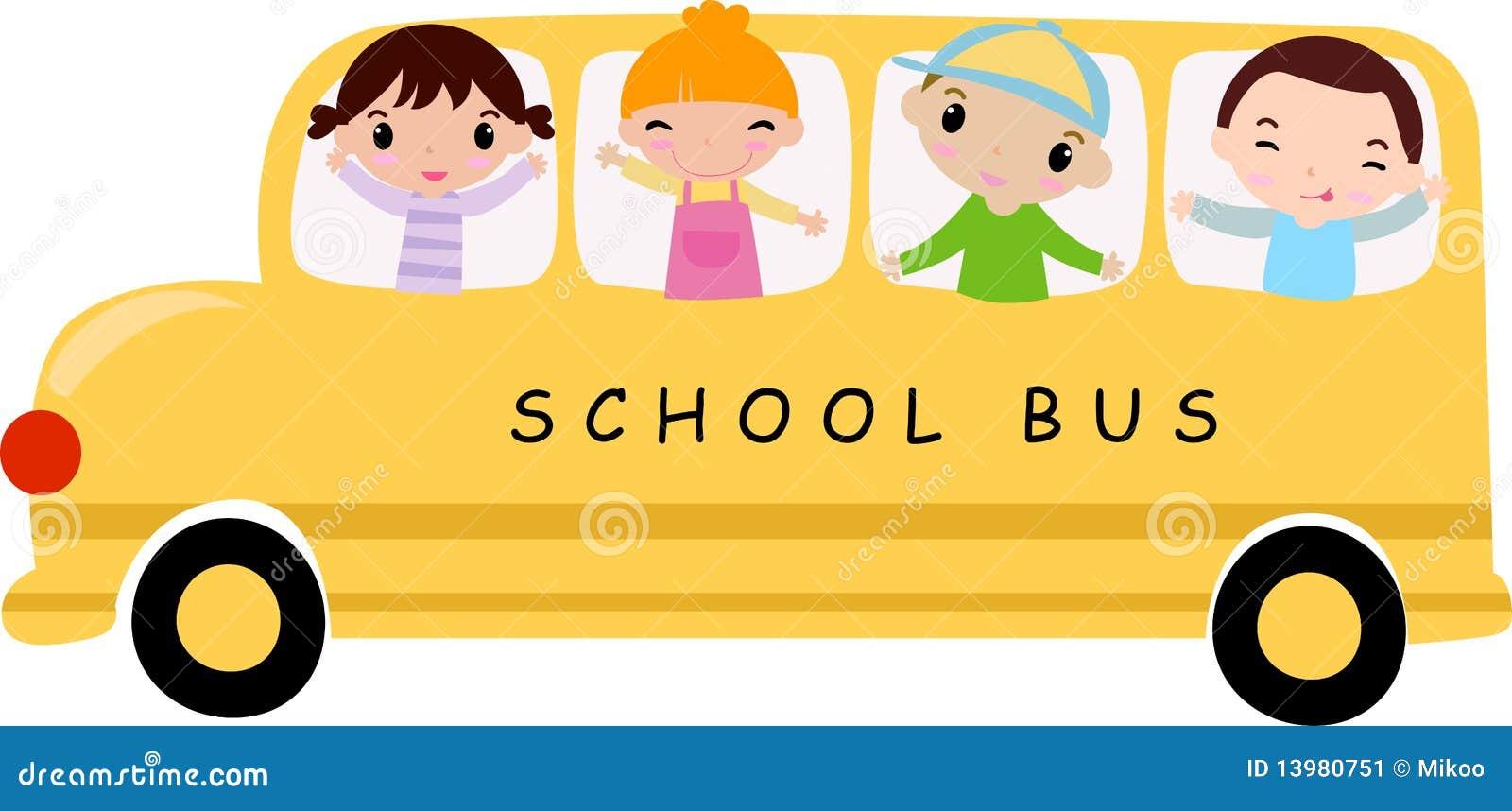 school bus stock vector illustration of white background 13980751 rh dreamstime com Elementary School Clip Art Magic School Bus Clip Art