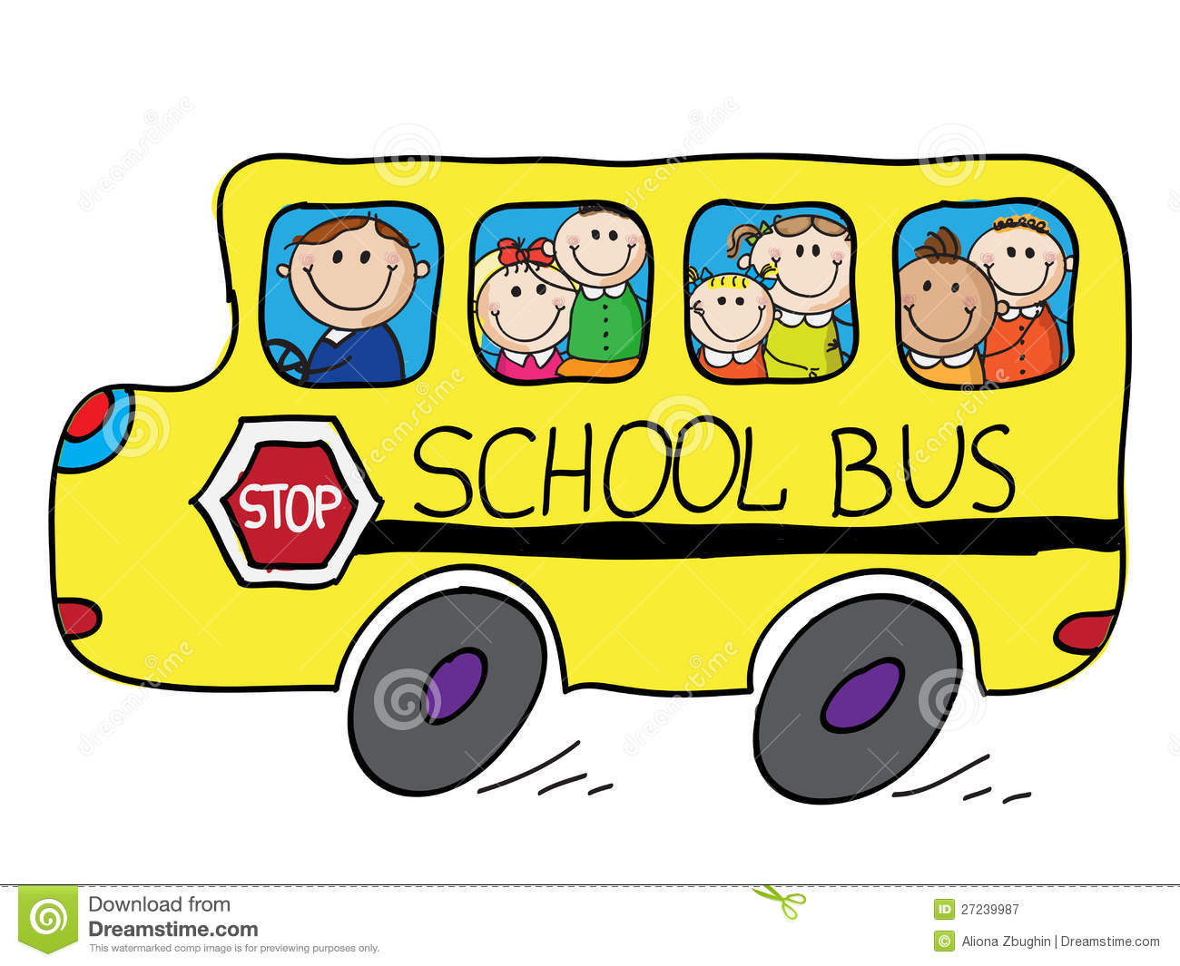 school bus stock vector illustration of clip illustration 27239987 rh dreamstime com school bus clipart free black and white free animated school bus clip art