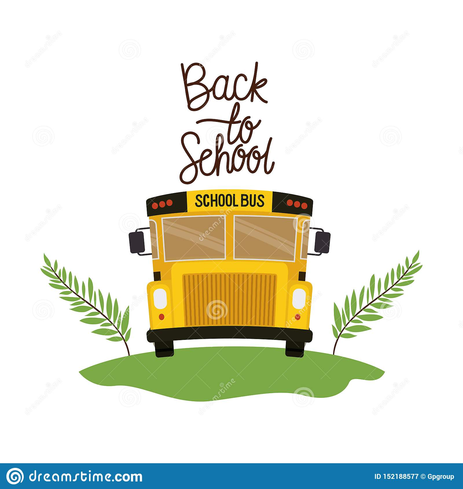 School bus with back to school label