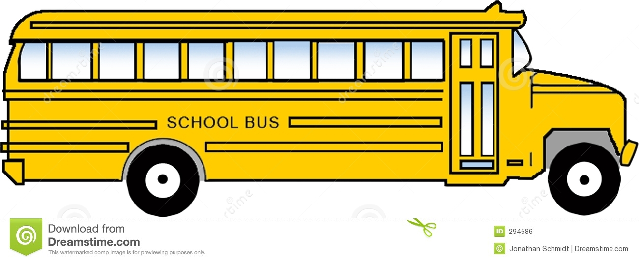 school bus clipart stock illustration illustration of children 294586 rh dreamstime com School Bus Silhouette Cartoon School Bus Clip Art
