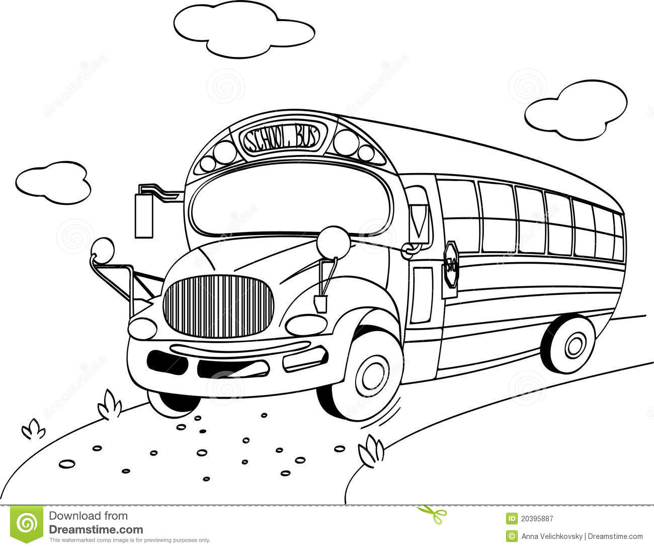 School Bus Coloring Page Royalty Free Stock Photography Image