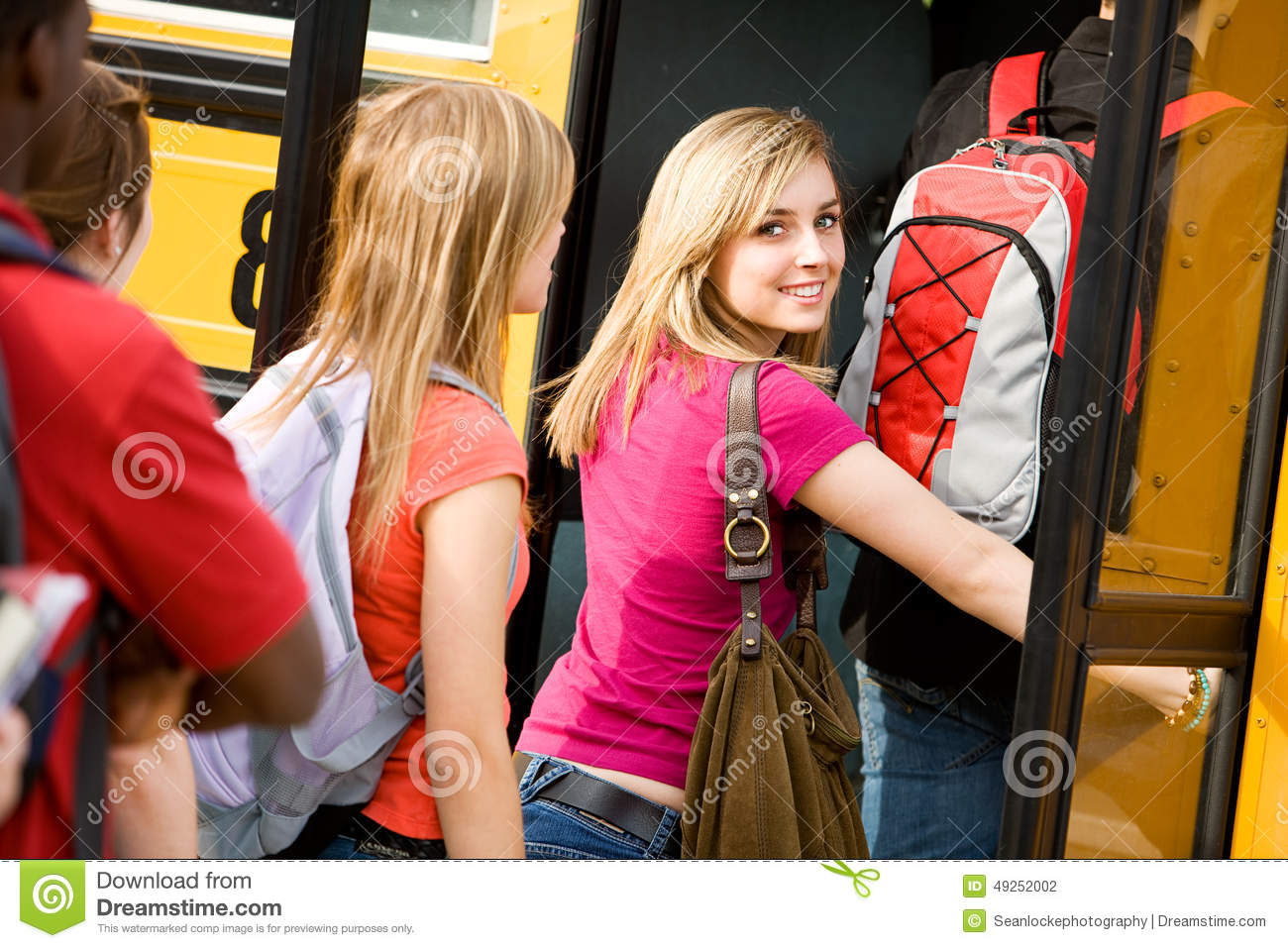 Teen on bus