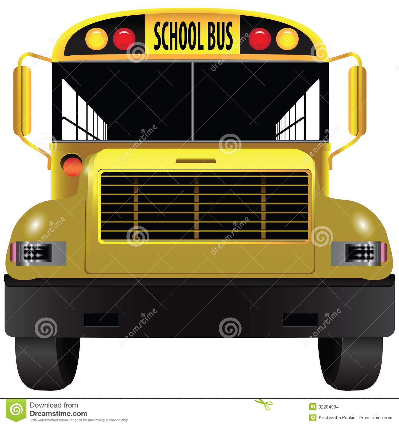School Bus Front Stock Images - Image: 32204984